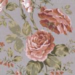 Baumwolle - Au Maison - Design: Sophia (Rosen) - Farbe: grey