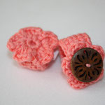 Ring mit Blume + Ring mit Holz-Knopf