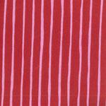 besch. Baumwolle (Acryl) - rot / rosa Streifen