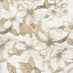 Baumwolle - AU Maison - Design: Bloom it - Farbe; creme