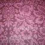besch. Baumwolle (Acryl) - Nika aubergine - Blumenornamente