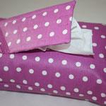 Design: Punkte pink (lila - hellfuchsia) - NOCH ZU HABEN