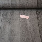 besch. Baumwolle - Holzdiele grau/braun