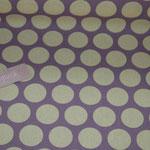 dto. Baumwolle Au Maison - Design: Super dots - Farbe: lavender mit gelben Punkten