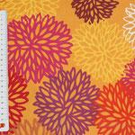 besch. Baumwolle (Acryl) - Blumen orange