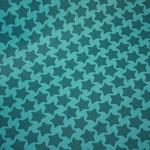 beschichtete Baumwolle  - STAARS blau / türkis- Farbenmix - AUSVERKAUFT