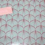besch. Baumwolle (PVC) Au Maison - ALLI - aqua sky / scarlet red - METERWARE