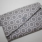 besch. Baumwolle - Hexagon grau