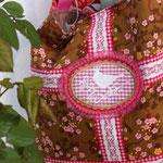 nähglück - Shopper-Tasche Kirschblüte braun