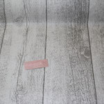 besch. Baumwolle- Holzdiele natur/grau