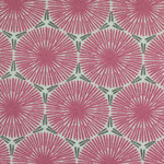 besch. Baumwolle - Pusteblume pink mit grau-grünem und weißen Untergrund - Blumen-DM ca. 3,5 cm