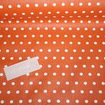 besch. Baumwolle - orange mit weißen Punkten - AUSVERKAUFT