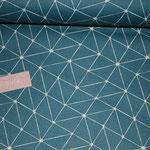 besch.- Baumwolle: Luna geo-Muster/abstrakt - petrol AUSVERKAUFT