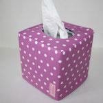 besch. Baumwolle: Punkte pink (flieder, fuchsia) NOCH ZU HABEN-d2
