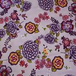 besch. Baumwolle (Acryl) - lila / flieder Blumen mit Bodüre