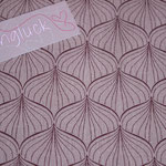Baumwolle Au Maison - Design: ALLI - Farbe: powder rose / ginger red - AUSVERKAUFT