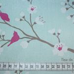 Kirschblüte blue - azur / pink - Bitte Maßband beachten !!