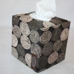 beschichtete Baumwolle - Weinkorken - beige/natur .. hier mit grau/braunem nähglück-Label - NOCH ZU HABEN