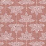 besch. Baumwolle AU Maison - Design: Lotus - Farbe: burned rose
