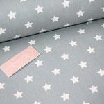 coated Fabric - STAR BIG - Sterne - dusty blue - Au Maison - RESTMENGE