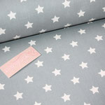 coated Fabric - STAR BIG - Sterne - dusty blue - Au Maison