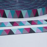 Triangle Spring No. 2 - knackige Farben in pink, mint, rosa, petrol, grau + anthrazit - Design: luzia pimpinella 2014 - 15 mm breit - EUR 1,60/m