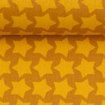 besch. Baumwolle - Farbenmix: Staaars gelb auf ocker