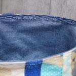 Innen mit besch. Baumwolle in rauchblau ausgekleidet