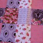 besch. BW (PVC matt)- Patchwork lila / rosa