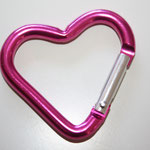 Herz PINK Alu-Karabiner