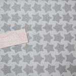 besch. Baumwolle - Farbenmix STAARS grau  - RESTMENGE
