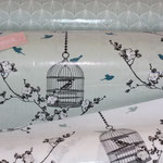 3 Designs: Tear drops ice green (AUSVERKAUFT) + Birdcage verte (AUSVERKAUFT)+ Birdcage charcoal / ice green