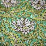 Amy Butler - Soul Blossoms - Temple Tulips - grün / grau / gelb / weiß