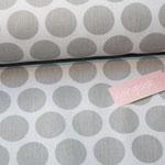 Baumwolle Au Maison: Super dot grey / light grey - METERWARE