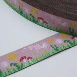 Sommerwiese - rosa - Design: Steffi Mitzscherling - 15 mm breit - EUR 1,90/m