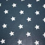 besch. Baumwolle Au Maison (PVC) - STAR big - Sterne midnight blue = dunkelblaugrundig - METERWARE