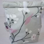 Kirschblüte grau / rosa