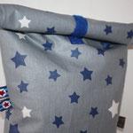 Sterne grau - dunkelblau / weiß NOCH ZU HABEN