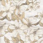 besch. Baumwolle AU Maison - Design: Bloom it - Farbe: creme