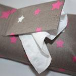 Design: schlamm mit pink / weißen Sternen   NOCH ZU HABEN