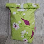 NOCH ZU HABEN: besch. Baumwolle Kirschblüte grün / fuchsia