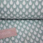 Baumwolle Au Maison - Design: Teardrops - Farbe: ice green - AUSVERKAUFT