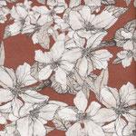 COMING SOON: besch. Baumwolle AU Maison - Design: Bloom it - Farbe: burned ginger .. ingwer