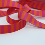Ringelband pink / orange - Design: farbenmix 2011 - 15 mm breit - EUR 1,20/m RESTMENGE