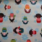 beschichtete Baumwolle (PVC) - Kinder der Welt / Mädchen - hellblau