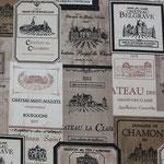 besch. Baumwolle - Weinetiketten