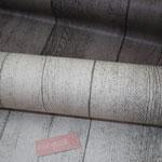 besch. Baumwolle- Holzdiele .. oben grau/braun .. unten natur/grau