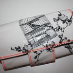 besch. Baumwolle Birdcage white/charcoal/NEON