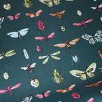 beschichtete Baumwolle - Libelle, Käfer, Schmetterlinge :)