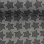 besch. Baumwolle - Farbenmix: Staaars dunkelgrau auf grau